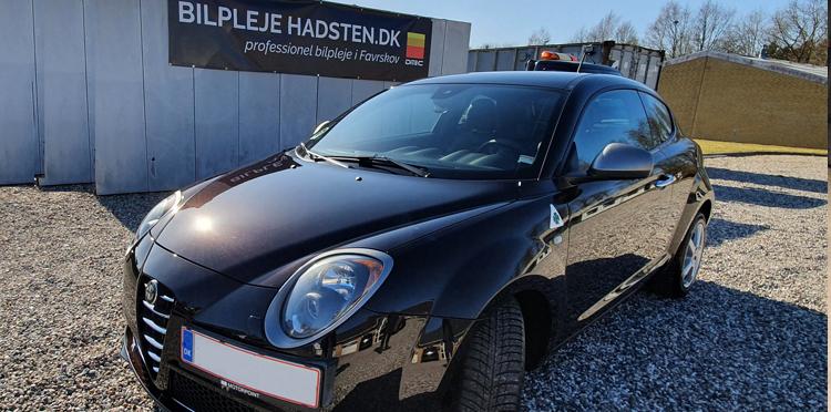 Alfa Romeo Mito QV behandlet hos Bilpleje Hadsten