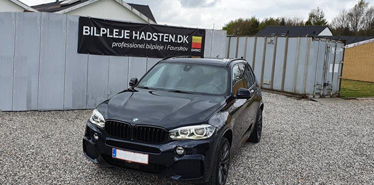 BMW X5 behandlet hos Bilpleje Hadsten