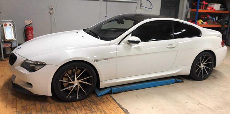 BMW M6 V10 behandlet hos Bilpleje Hadsten