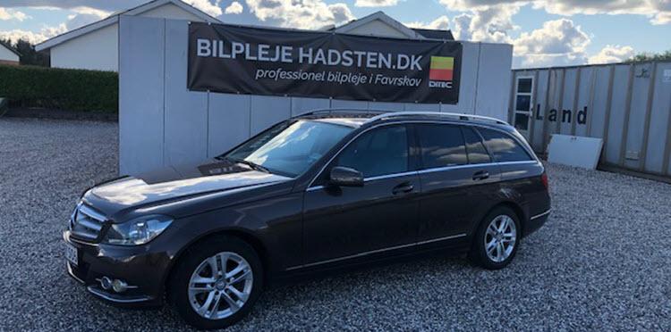 Mercedes-Benz C200 CDI behandlet hos Bilpleje Hadsten