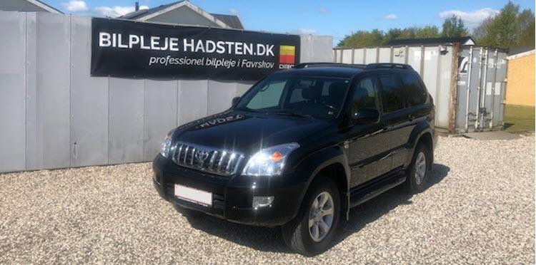 Toyota Land Cruiser behandlet hos Bilpleje Hadsten