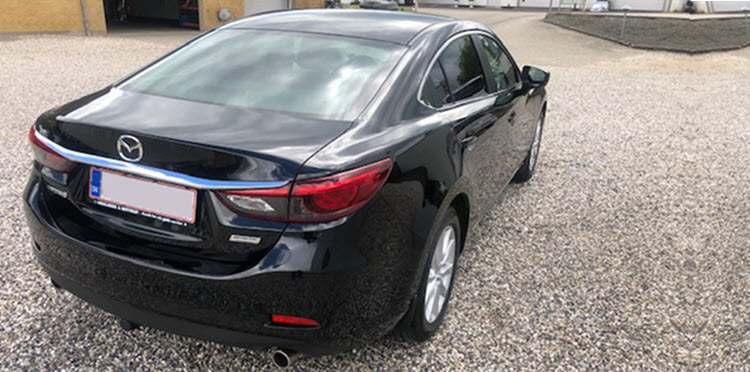 Mazda 6 behandlet hos Bilpleje Hadsten