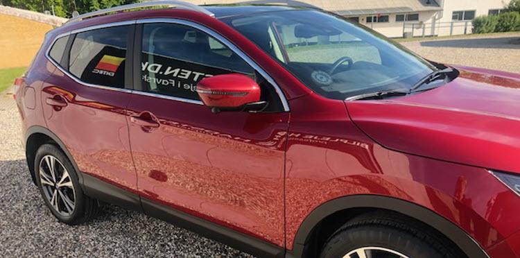 Nissan Qashqai behandlet hos Bilpleje Hadsten