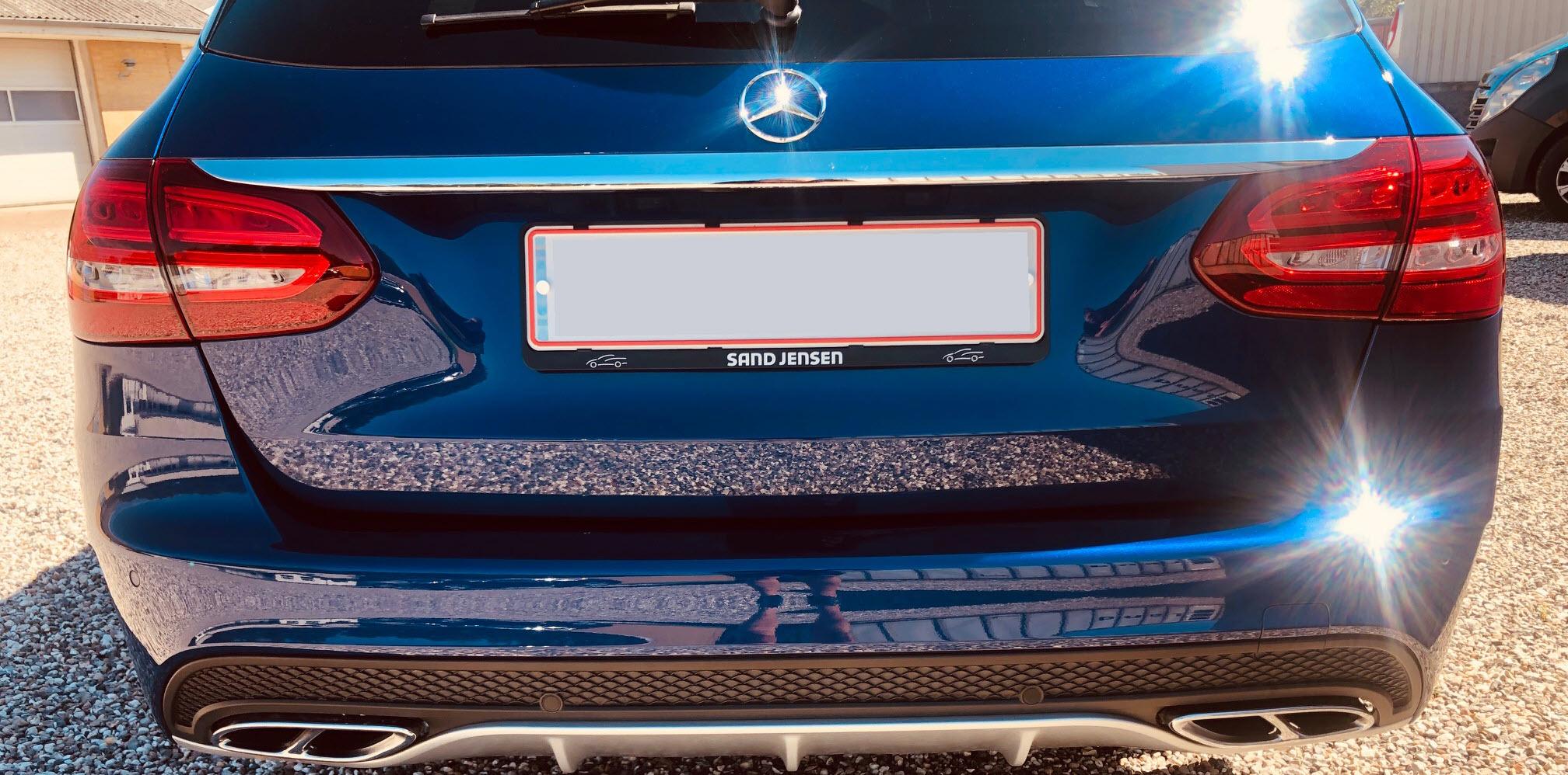 Mercedes C450 AMG 4 MATIC - behandlet hos Bilpleje Hadsten