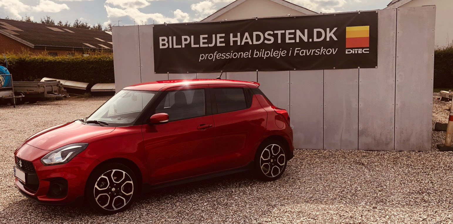Suzuki Swift Sport Ditec genbehandlet hos Bilpleje Hadsten