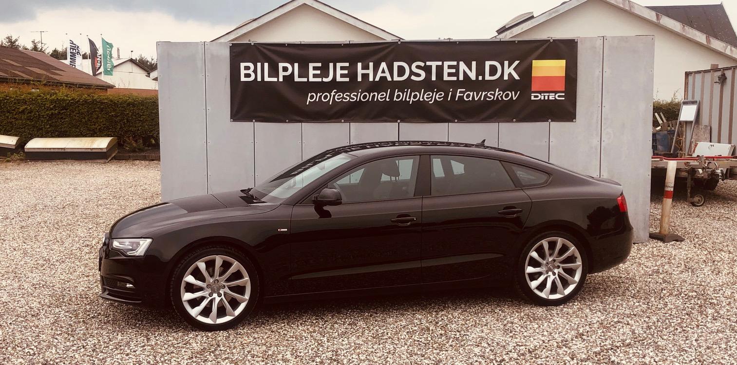 Audi A5 Sportback 3.0 TDI behandlet hos Bilpleje Hadsten